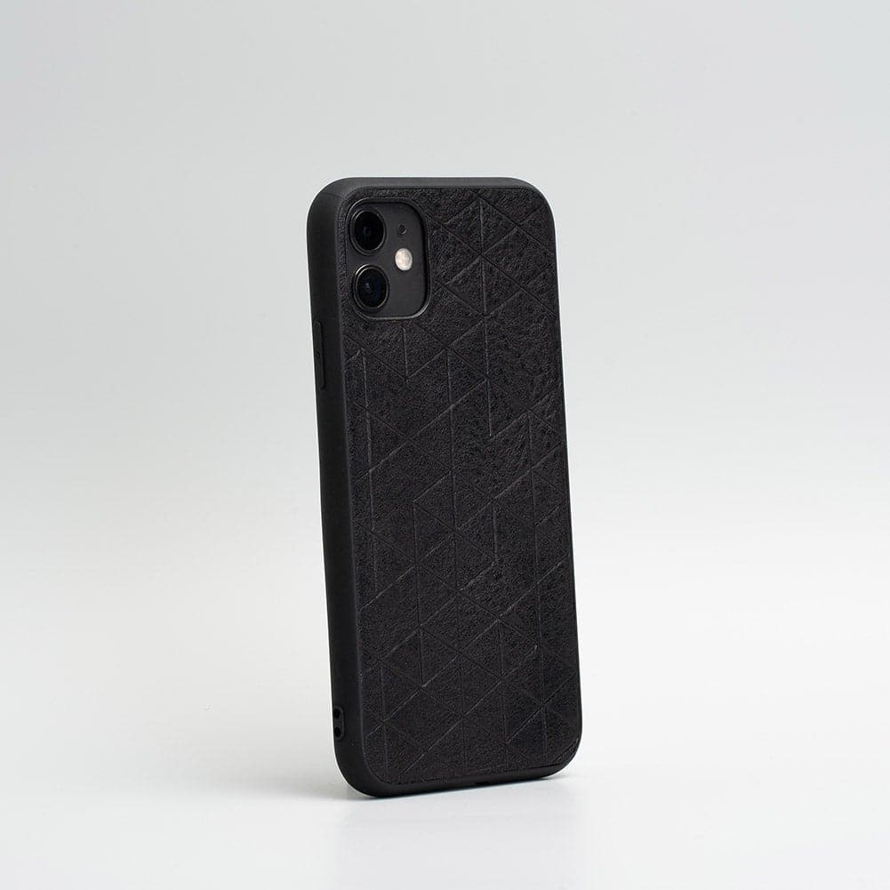 leather black iPhone 11 cases