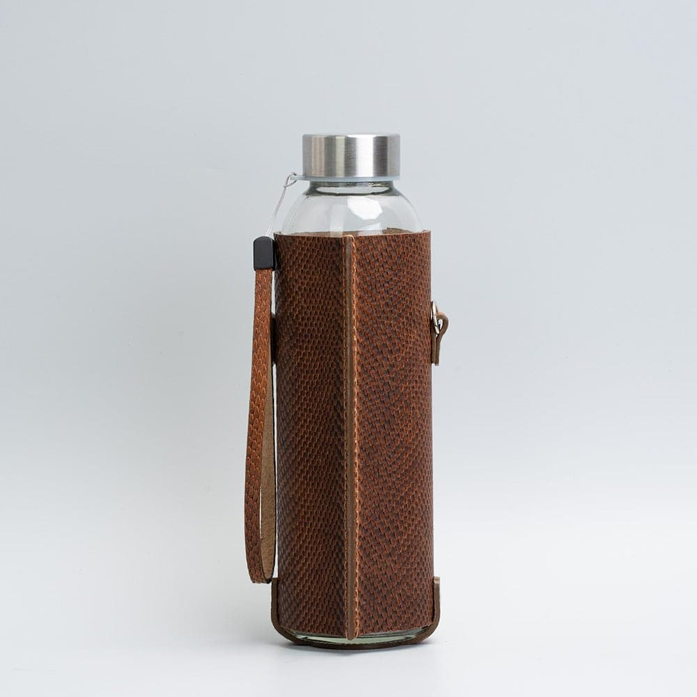leather bottle bag