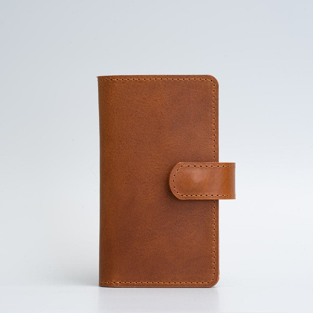 leather iphone folio wallet with magsafe