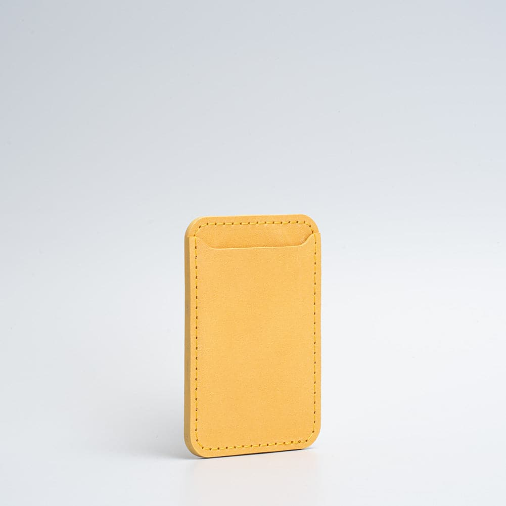 leather magsafe wallet in yellow color