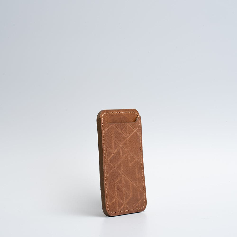 leather magsafe wallet saddle brown
