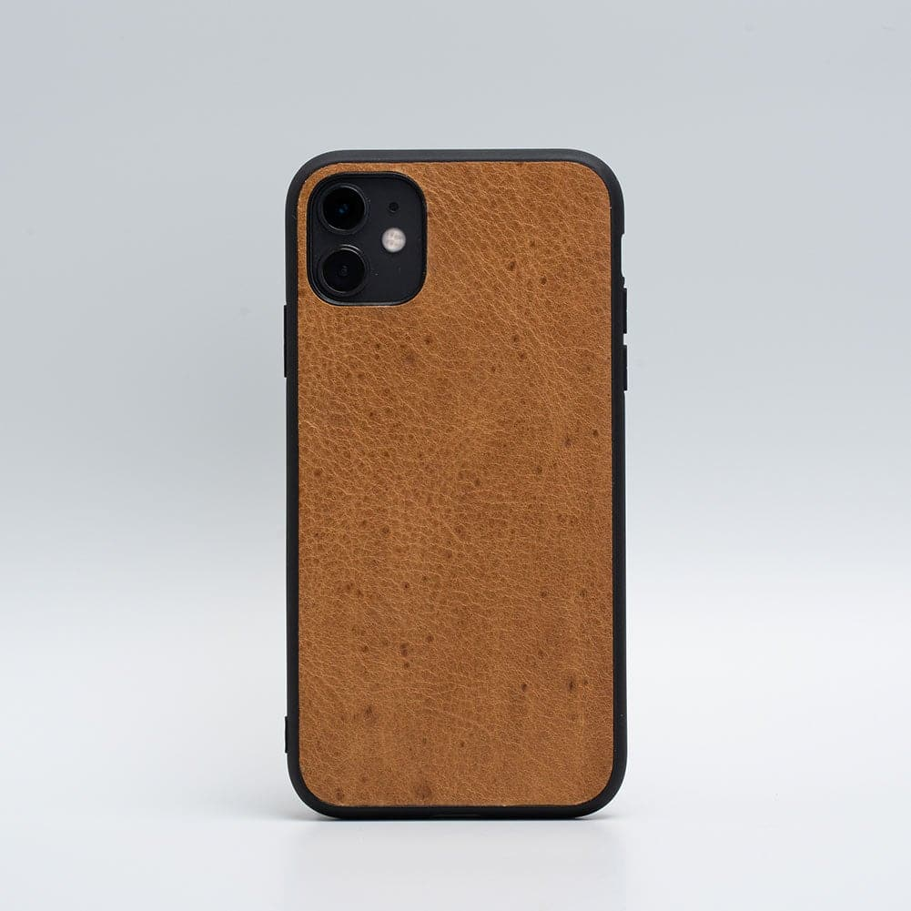 hellbraunes Leder iPhone 11 Fall