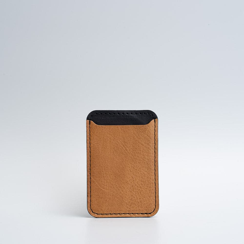 light brown magsafe wallet