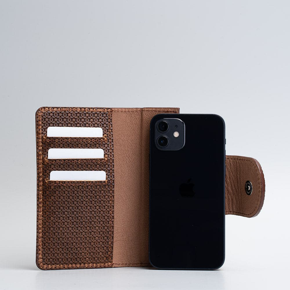 luxury iPhone 12 folio wallet