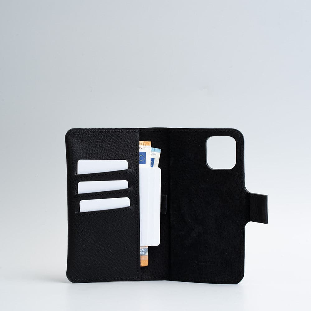 Leather iPhone folio wallet with Magsafe - The Minimalist 2.0