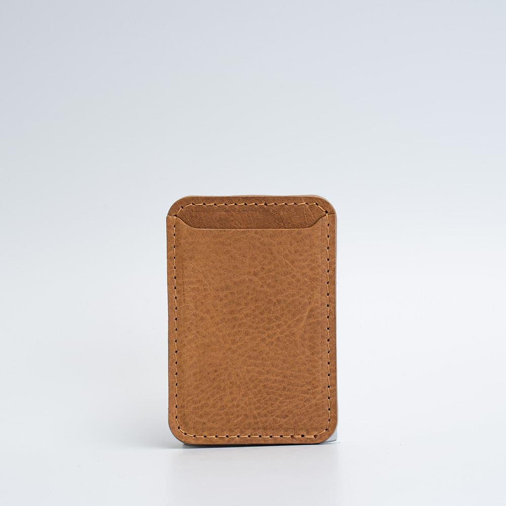 Personalized leather wallet with MagSafe