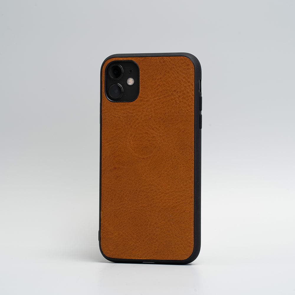 minimalistisch Leder iphone 11 Fall