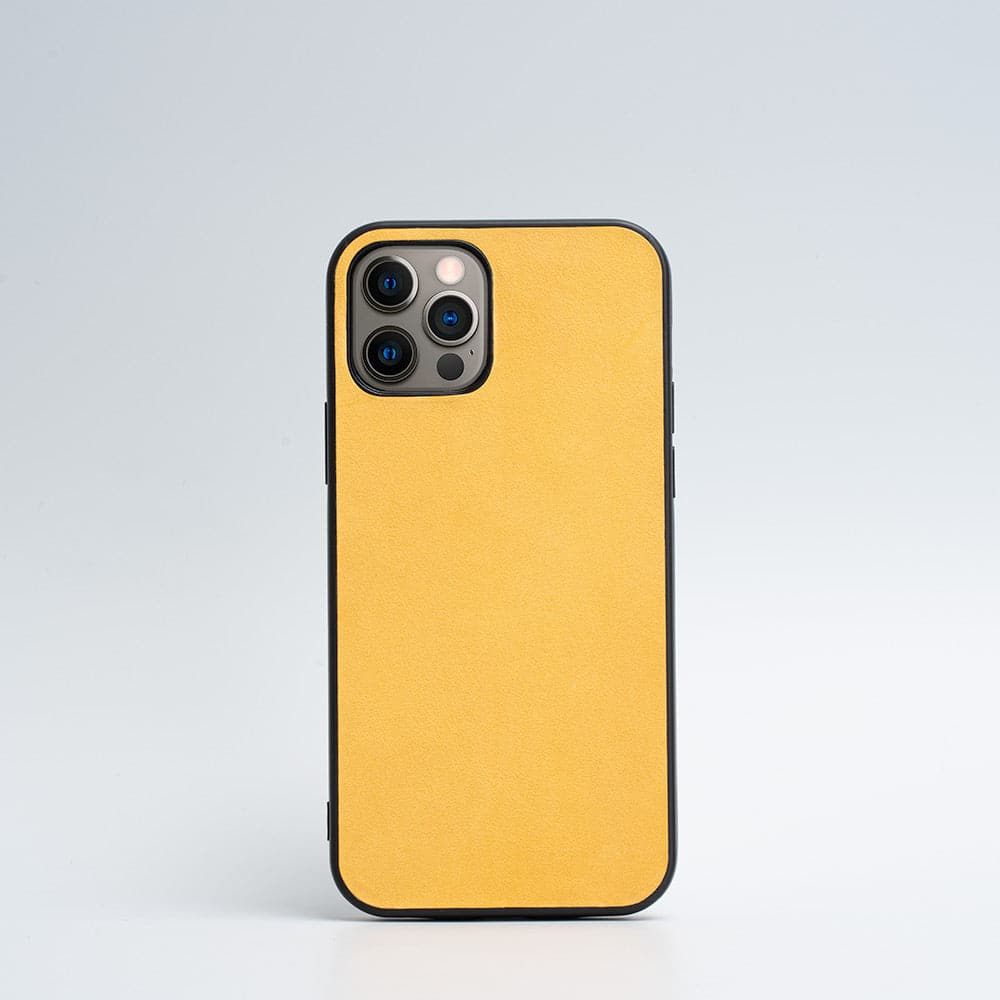 coque iphone 12 pro jaune moutarde