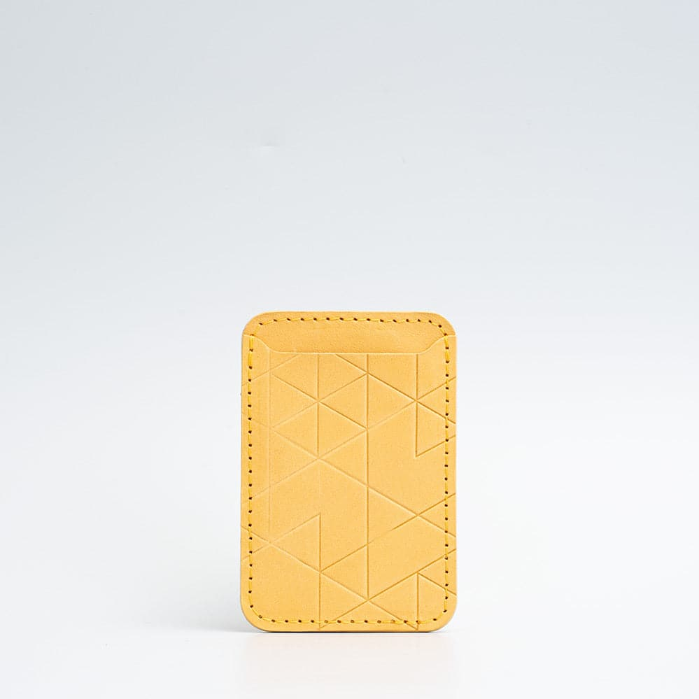 mustard yellow magsafe wallet