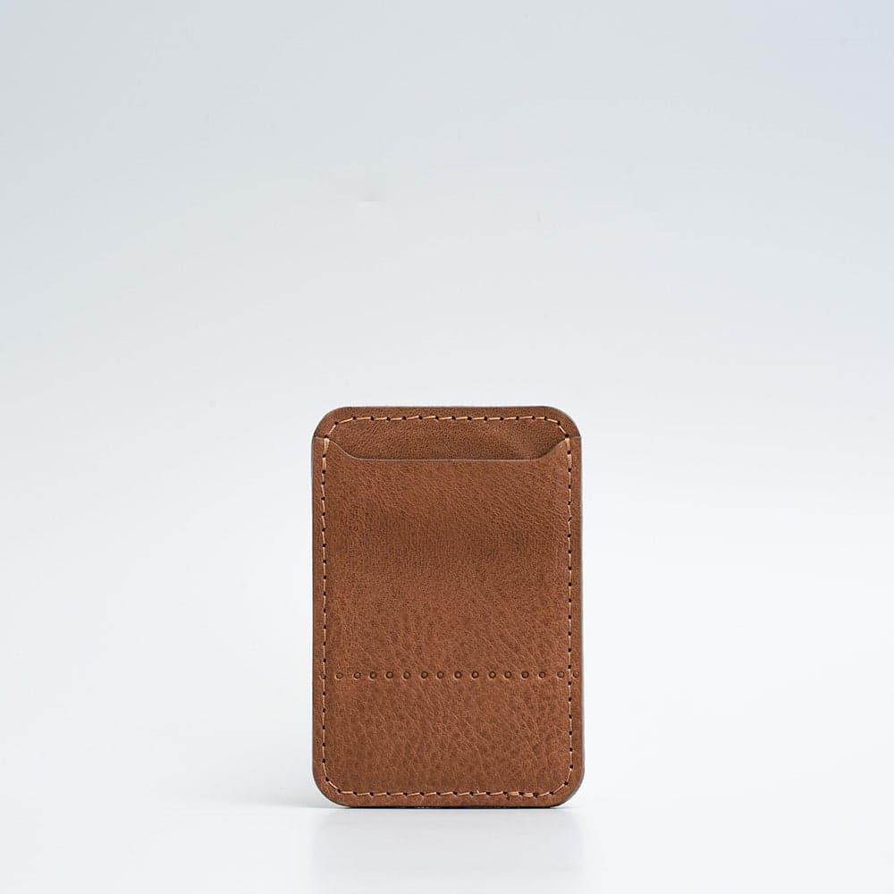 saddle brown magsafe wallet