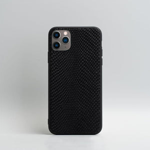 snake embossed leather iPhone 11 Pro case