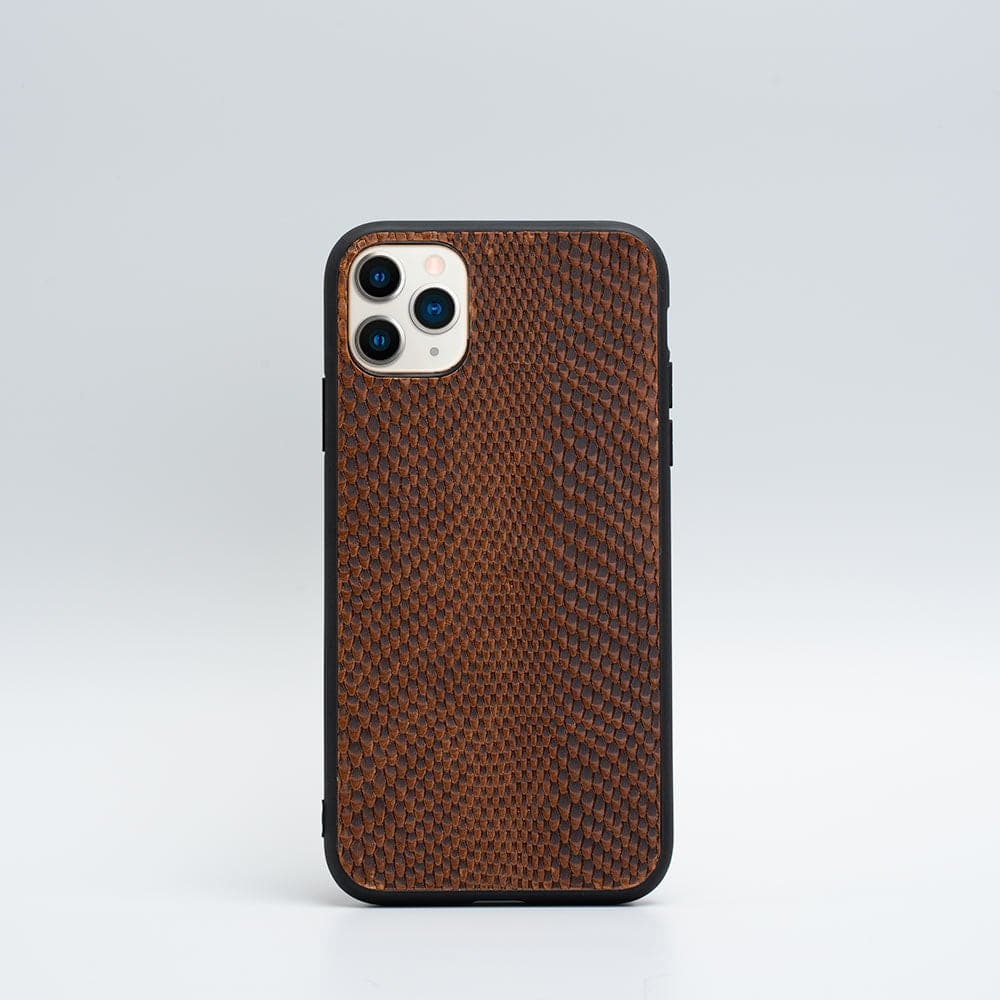 Leather case for iPhone 12,12 mini,12 Pro,12 Pro Max,11,11 Pro,11 Pro Max,XR embossed snake print Italian vegetable-tanned leather Xs,SE