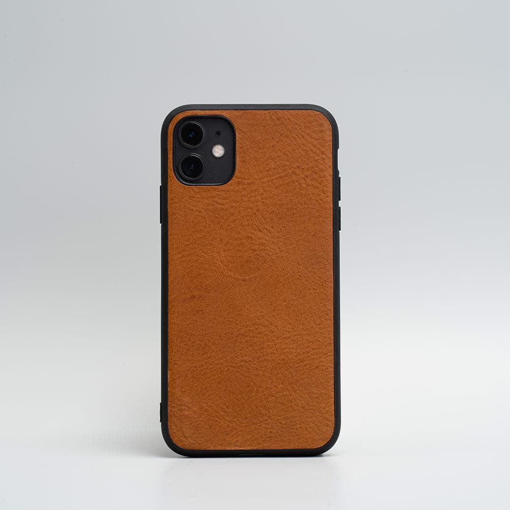 tan Leder iphone 11 Fall