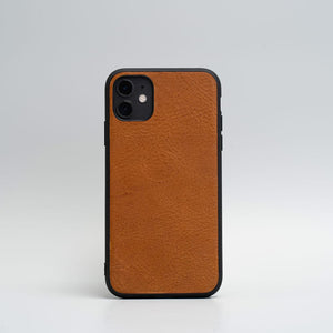 coque iphone 11 en cuir beige