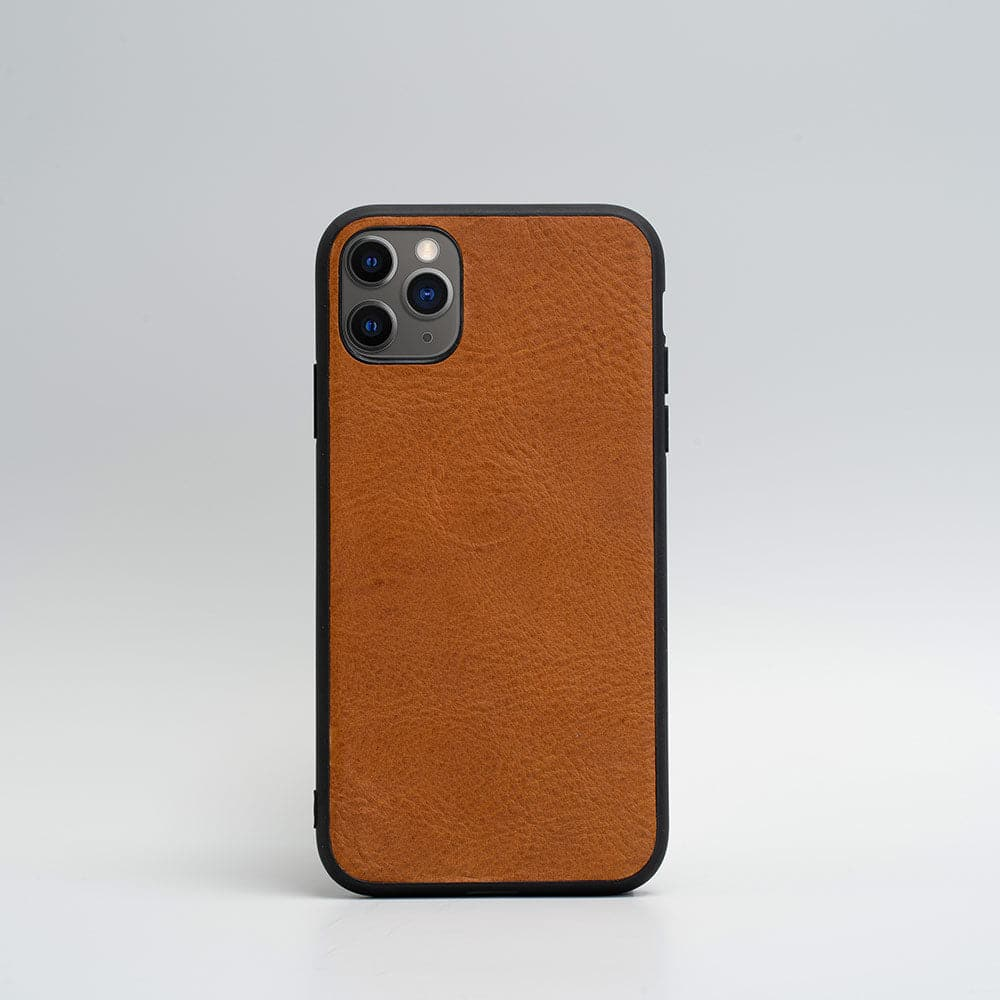 tan leather iphone 11 pro case