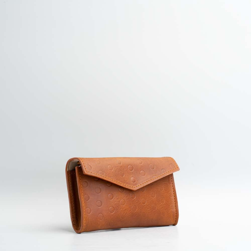 tan leather waist bag