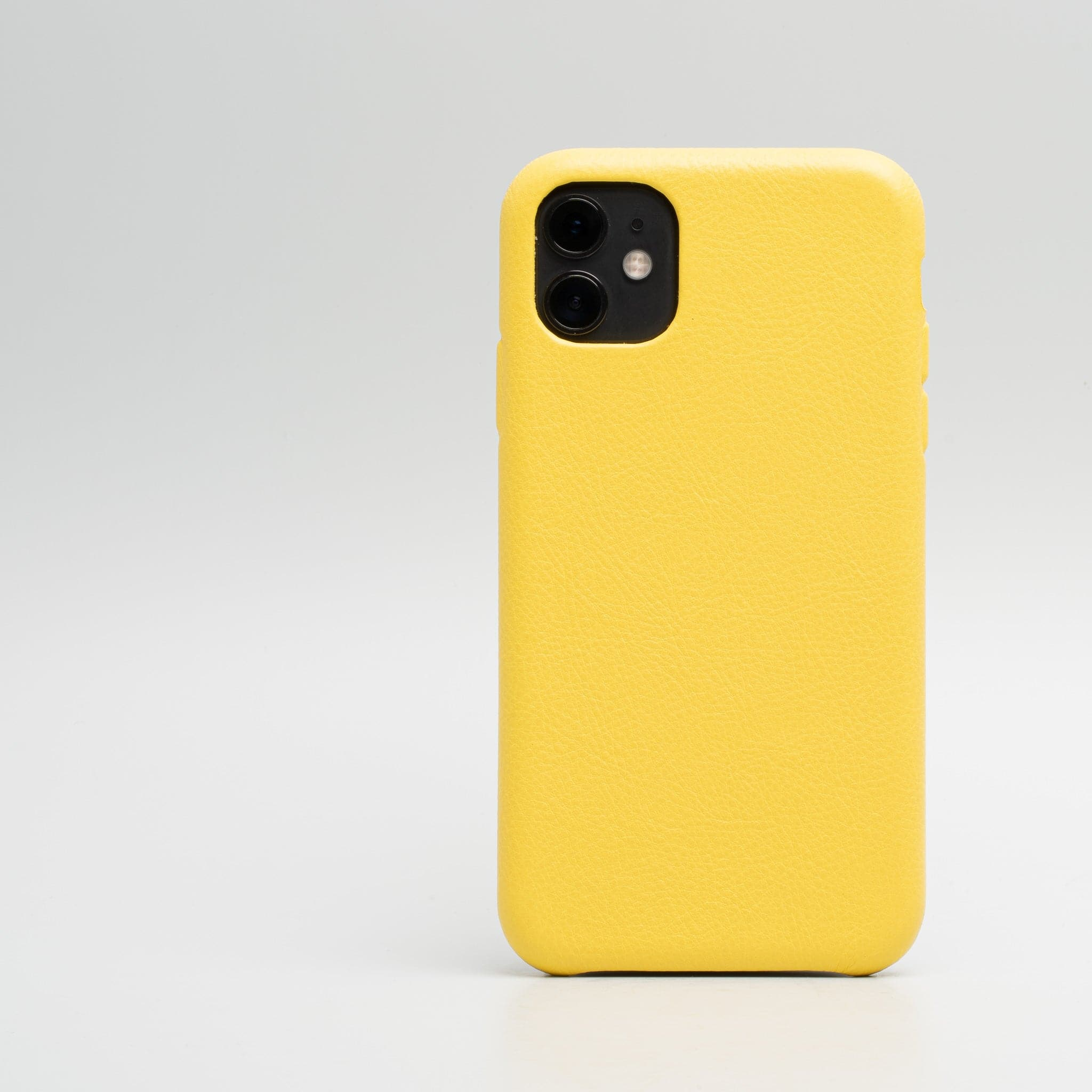 Cuir jaune iPhone 11 cas