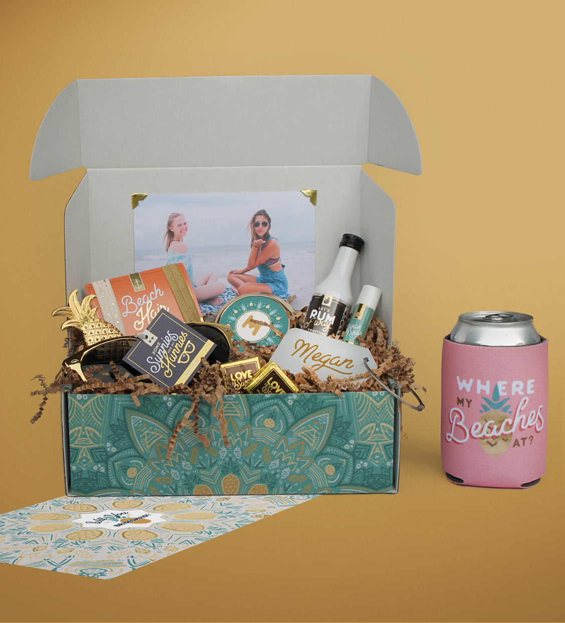 "Large Destination/Beach Wedding Bridesmaid Box  |  ""If You like Piña Coladas"""