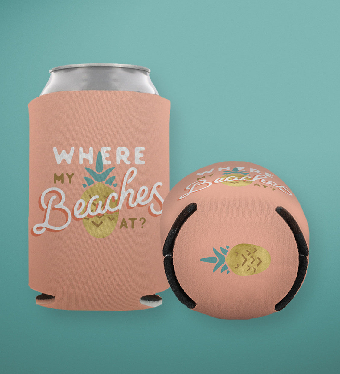 "Summer Can Coolers  |  Bachelorette Party Favors  |  ""Feels Like Summer"""