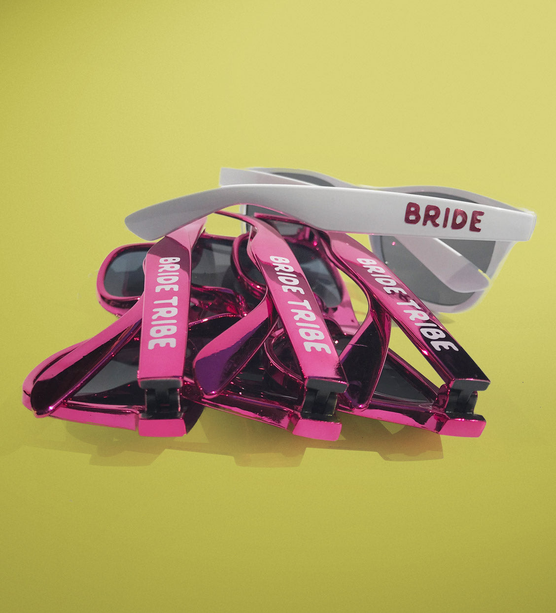 Pink Metallic Bride Tribe + Bride Sunglasses