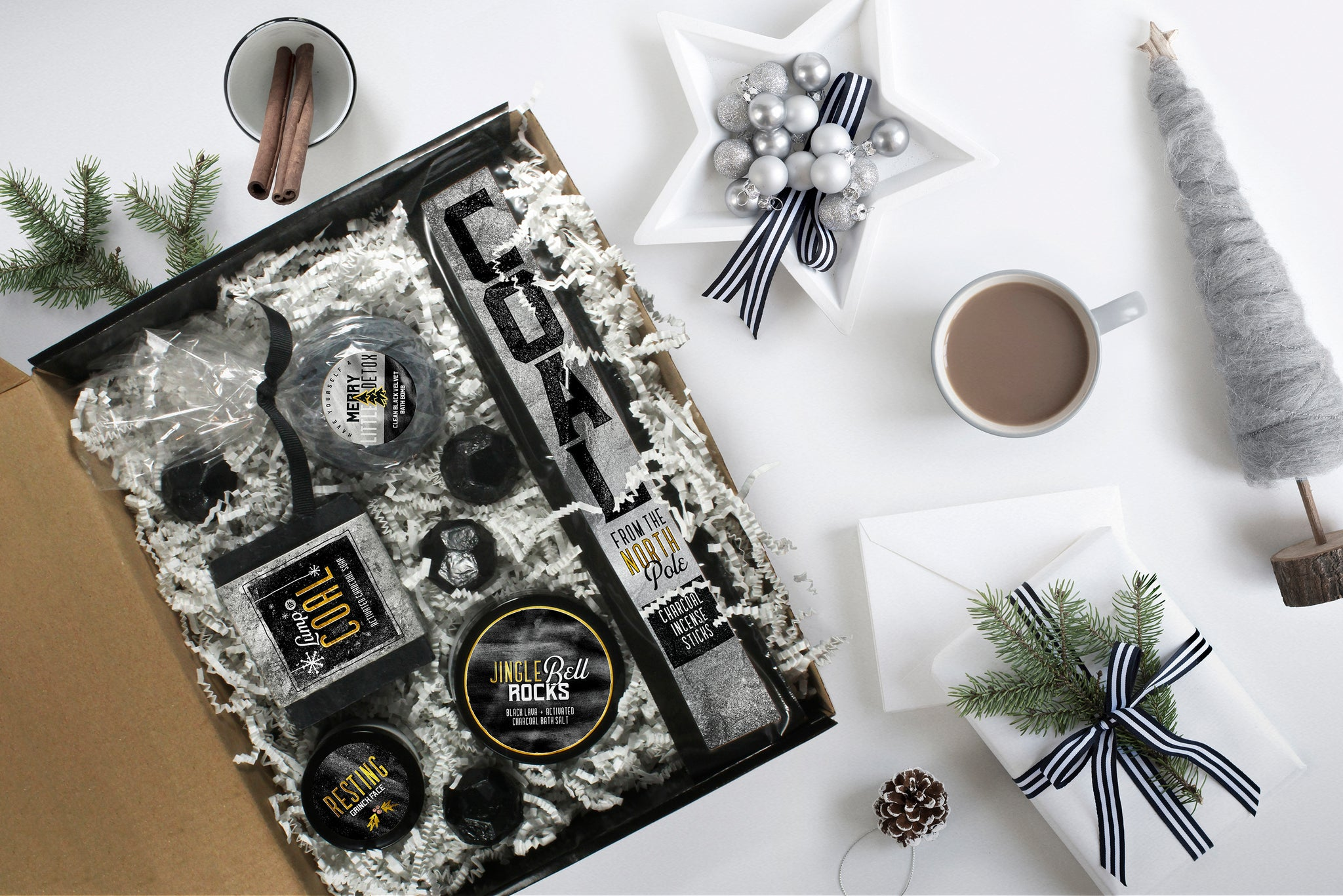 "Christmas Charcoal Spa Set | ""Lump of Coal"""