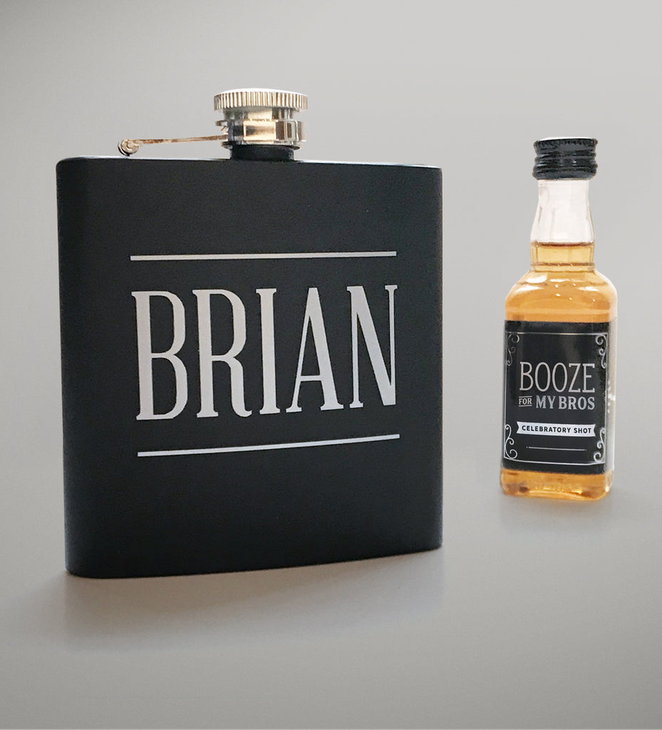 Personalized Groomsman Flask 5 Pack | Bachelor Party Gift