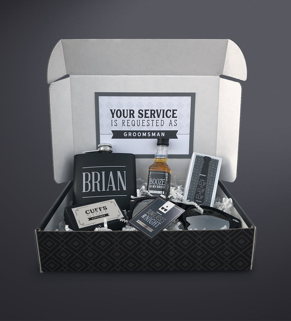 Groomsman Gift Thank You or Proposal Box | Best Man Gift