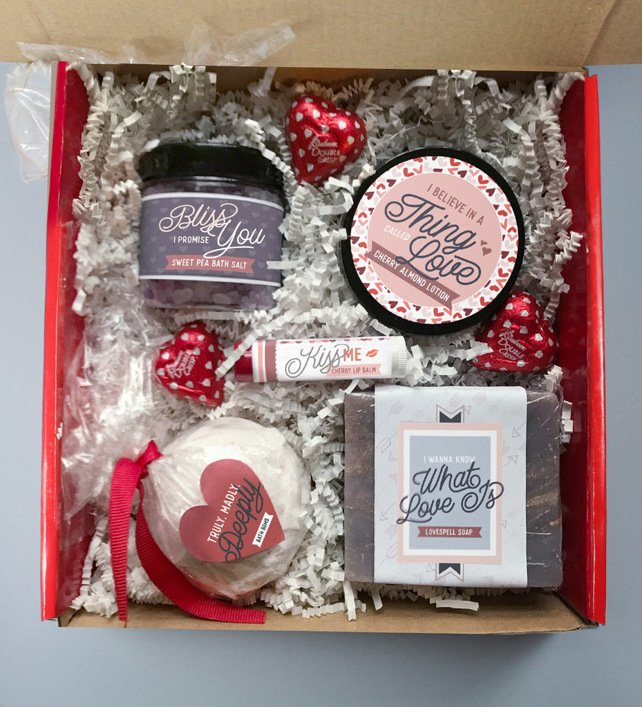 "Valentines Day Spa Set | ""I Believe in a Thing Called Love"""