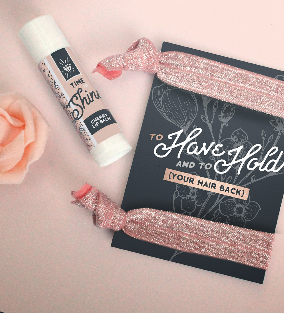 "Rose Gold Bridesmaid Proposal Box  | ""Rise and Rosé"""