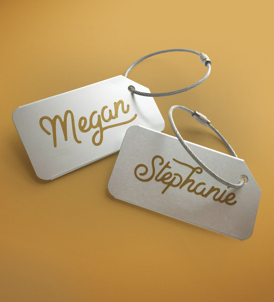 Personalized Luggage Tags 5 Pack | Wedding Party Gift