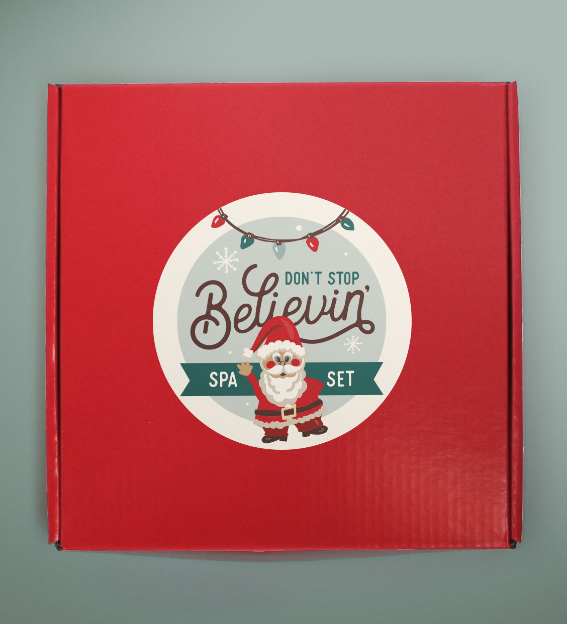 "Christmas Spa Set | ""Don't Stop Believin' """