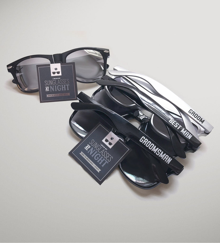 "Groomsman Sunglasses ""I Wear my Sunglasses at Night""  