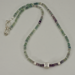 Fluorite & Sterling Silver Necklace