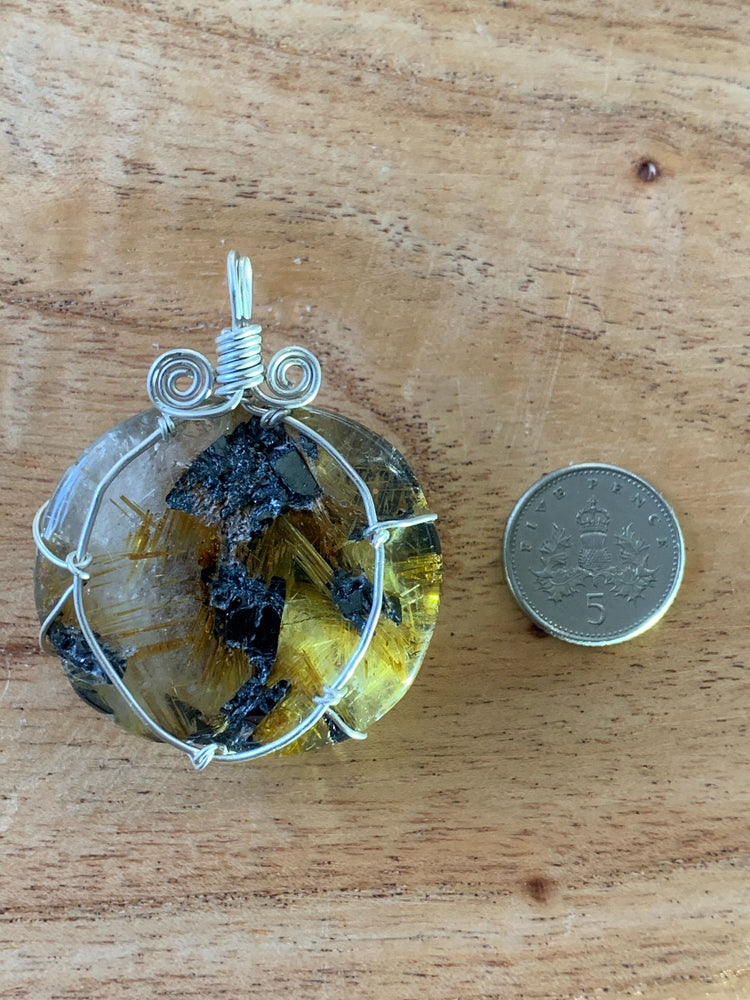 Rutilated Quartz  (Angel Hair) Pendant