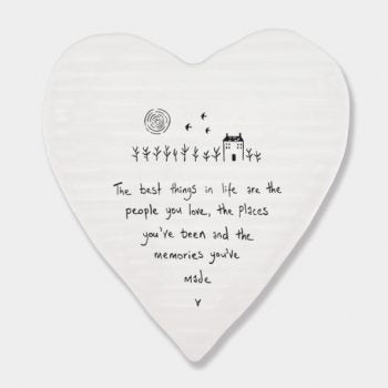 Porcelain Heart Coaster