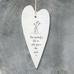 Porcelain Hanging Heart