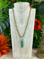 Chrysoprase and Hematite Necklace