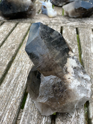 Smoky Quartz Chunk with Water Grooves