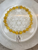 'Archangel Gabrielle' Citrine Bracelet with Sterling Silver Wing Charm