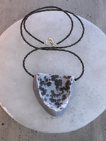 Stunning Hand Drilled and Hand Carved Druzy Agate Necklace
