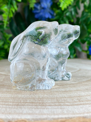 Clear Quartz Hare
