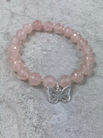 Rose Quartz Butterfly Bracelet