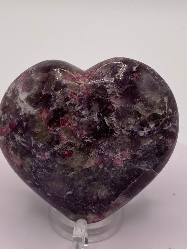 Pink Tourmaline and Lepidolite Heart