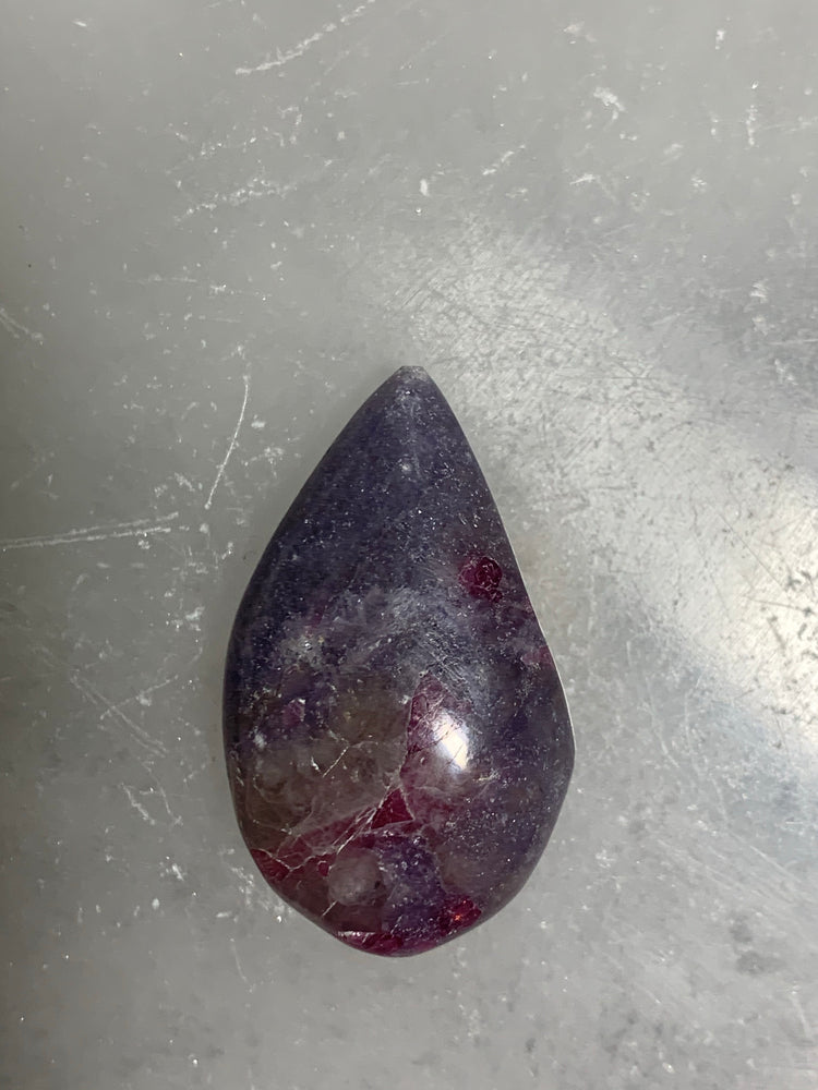Lepidolite and Pink Tourmaline Tear Drops