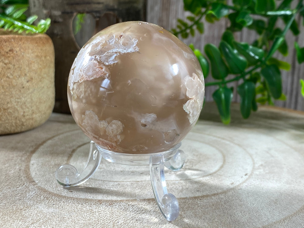 Flower Agate Sphere