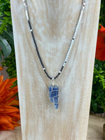 Kyanite and Hematite Necklace