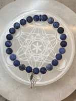 'Archangel Michael' Sodalite Bracelet with Sterling Silver Angel Wing Charm