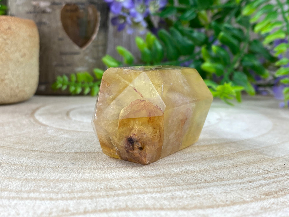 Chinese Yellow Fluorite Double Terminated