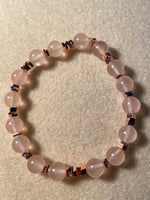 Rose Quartz Bracelet 'Be Love'