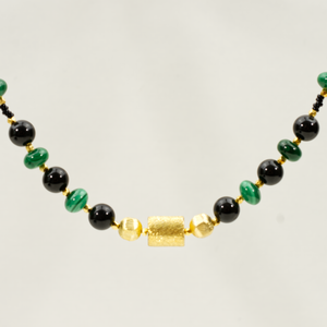 Malachite and Black Tourmaline Necklace